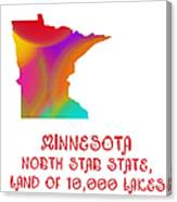 Minnesota State Map Collection 2 Canvas Print