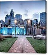 New Romare-bearden Park In Uptown Charlotte North Carolina Earl Canvas Print