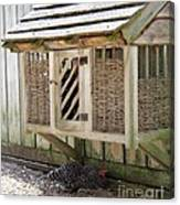 Old Fashioned Chicken Coop In Colonial Williamsburg Virginia Canvas Print