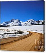 Open Road Tothe Sawtooth Mountains Canvas Print