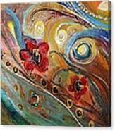 Original Painting Fragment 10 Canvas Print