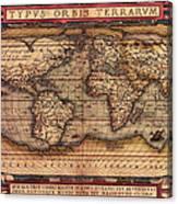 Ortelius World Map -typvs Orbis Terrarvm - 1570 Canvas Print