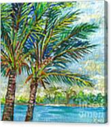 Palm Breezes Canvas Print