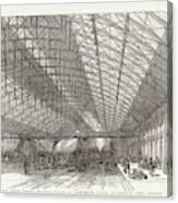 Passengers Await Their Train Canvas Print