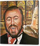 Pavarotti And The Ghost Of Lincoln Center Canvas Print