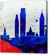 Philadelphia City Skyline Canvas Print