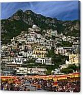 Positano Crowded Beach Canvas Print