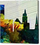 Providence City Skyline Canvas Print