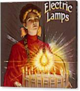 Rashleigh Electric Lamps         Date Canvas Print