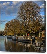 River Thames At Sandford Lock Canvas Print