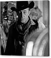 Robert Mitchum Lights Young Billy Young Set  Old Tucson Canvas Print