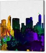 San Diego City Skyline Canvas Print