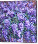 Scented Lilacs Bouquet Canvas Print