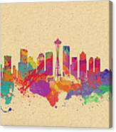 Skyline Of Seattle  Usa Canvas Print