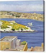 Sliema  A Suburb Of Valletta,  Popular Canvas Print