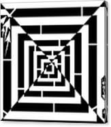 Spin Art Off Set Targeting Maze  Canvas Print
