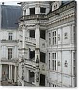 Spiral Staircase In The Francois I Wing - Chateau Blois Canvas Print