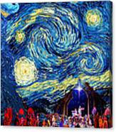 Starry Night In Bethlehem Canvas Print