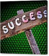 Success Sign Post Canvas Print
