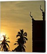 Sunset In The Tempel Canvas Print