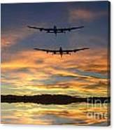 Sunset Lancasters Canvas Print