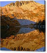 Switchback Peak On Cooney Lake Canvas Print