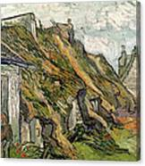 Thatched Cottages In Chaponval Canvas Print