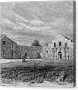 The Exterior Of The Alamo         Date Canvas Print