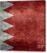 The Flag Of The Kingdom Of Bahrain Vintage Version Canvas Print