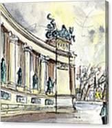 The Millennium Monument In Budapest Canvas Print