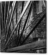 The Old Mill-black And White Canvas Print