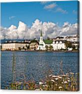 The Pond In Reykjavik. Canvas Print
