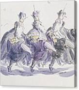 Three Kings Dancing A Jig Canvas Print