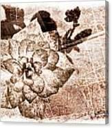 Thumbelina Rose - Miniature Rose - Digital Paint II Canvas Print