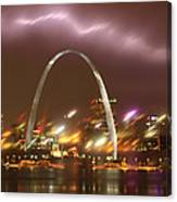 Thunderstorm Over The Arch Canvas Print