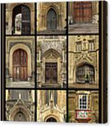 Uk Doors Canvas Print
