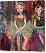 Victorian Christmas Ballet Canvas Print