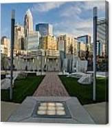 View Of Charlotte Skyline Canvas Print