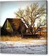Vintage Green House Canvas Print