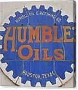 Vintage Humble Oils Sign Jefferson Texas Canvas Print