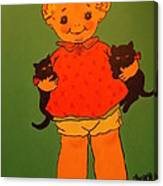 Vintage Kewpie Doll Canvas Print