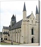 West Facade Of The Church - Fontevraud Abbey Canvas Print