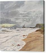 Whitby, Yorkshire A Deserted Beach Canvas Print
