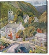 Yorkshire Scenery Muker In Swaledale Canvas Print