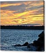 001 Awe In One Sunset Series At Erie Basin Marina Canvas Print