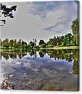 001 Reflecting At Forest Lawn Canvas Print