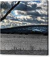 0013 Grand Island Bridge Series Canvas Print