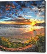 0014 Awe In One Sunset Series At Erie Basin Marina Canvas Print