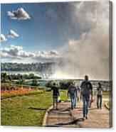 0014 Niagara Falls Misty Blue Series Canvas Print