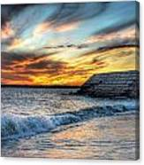 0016 Awe In One Sunset Series At Erie Basin Marina Canvas Print